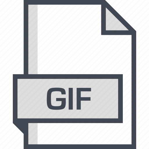 document, extension, gif, name icon