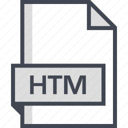 document, extension, htm, name icon