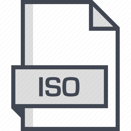 document, extension, iso, name icon