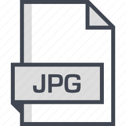 document, extension, jpg, name icon