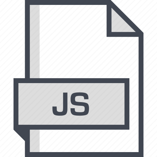 document, extension, js, name icon