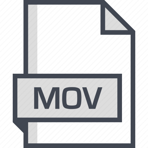 document, extension, mov, name icon