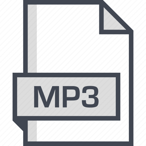 document, extension, mp3, name icon