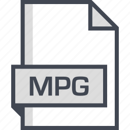document, extension, mpg, name icon