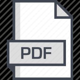 document, extension, name, pdf icon