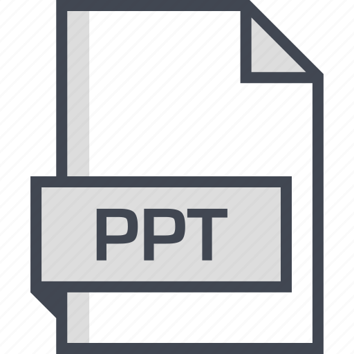 document, extension, name, ppt icon