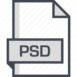 document, extension, name, psd icon