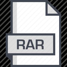 document, extension, name, rar icon