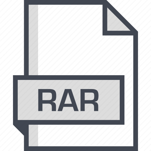 document, extension, name, rar icon