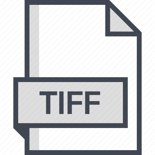 document, extension, name, tiff icon