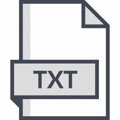 document, extension, name, txt icon