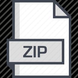 document, extension, name, zip icon