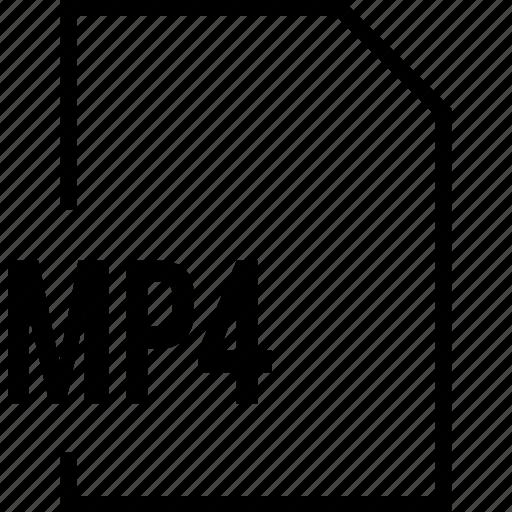 file, mp4, name icon