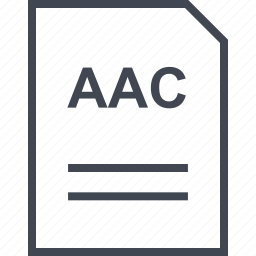 aac, document, file, name icon