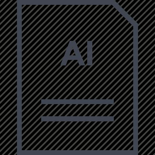 document, file, illustrator, name icon