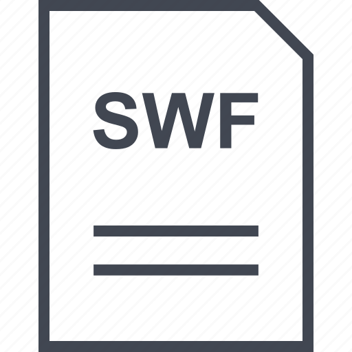 document, file, name, swf icon