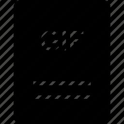 extension, file, gif, name icon