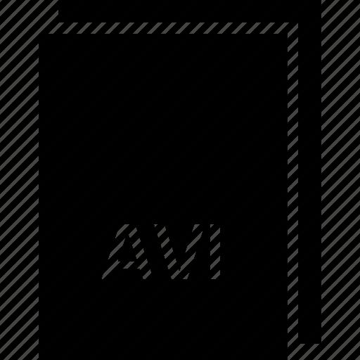 avi, extension, file, name, type icon