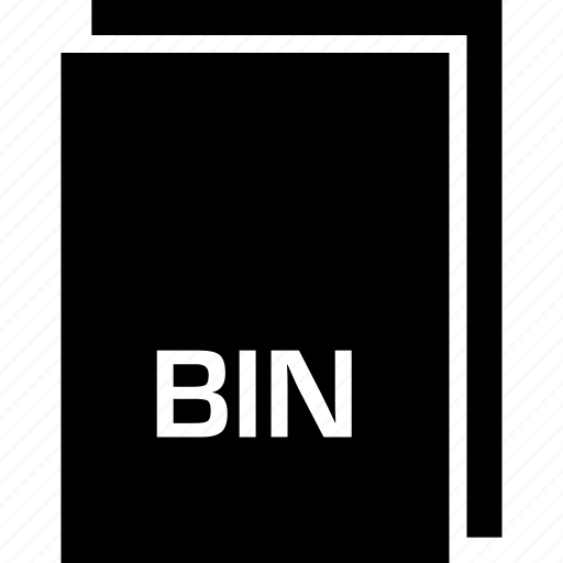 bin, extension, file, name, type icon
