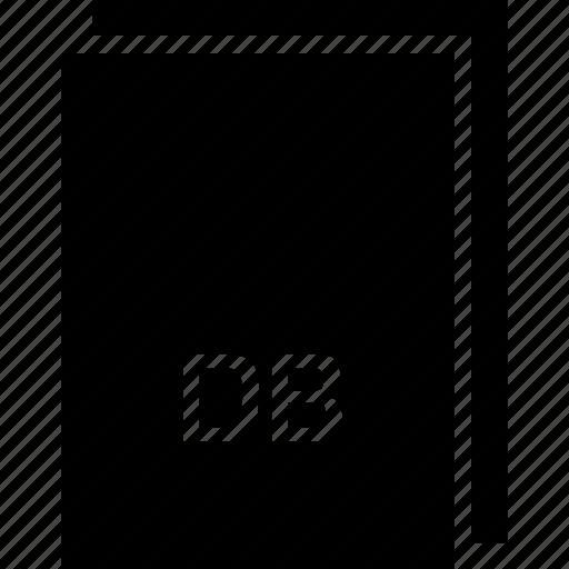 db, extension, file, name, type icon
