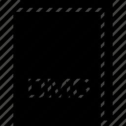 dmg, extension, file, name, type icon