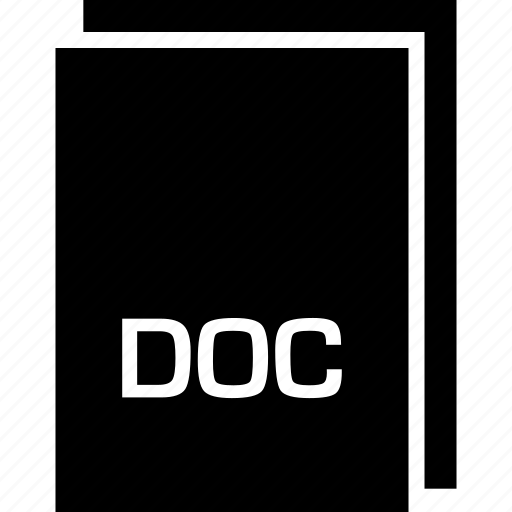 doc, extension, file, name, type icon