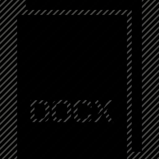 docx, extension, file, name, type icon