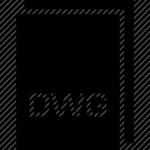 dwg, extension, file, name, type icon