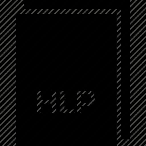 extension, file, hlp, name, type icon