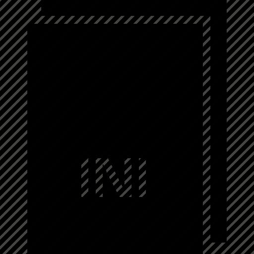 extension, file, ini, name, type icon