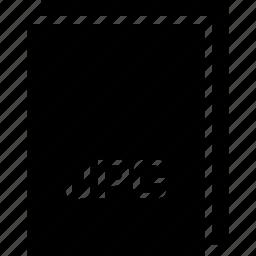 extension, file, jpg, name, type icon