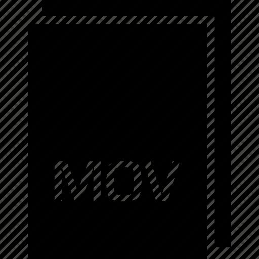 extension, file, mov, name, type icon