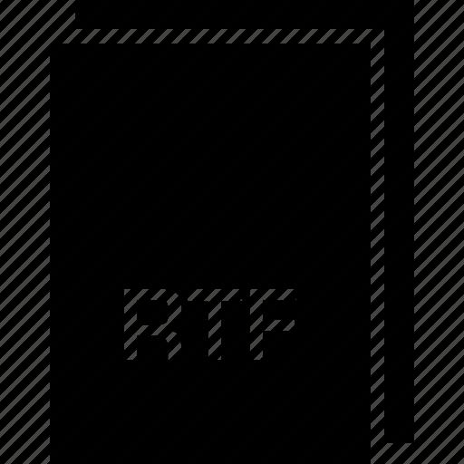 extension, file, name, rtf, type icon