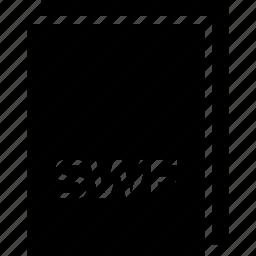 extension, file, name, swf, type icon