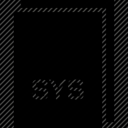 extension, file, name, sys, type icon