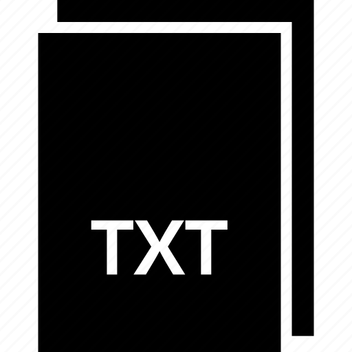 extension, file, name, txt, type icon