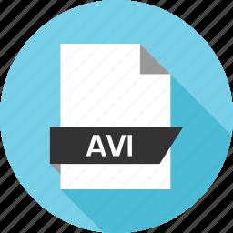 avi, extension, file, name icon