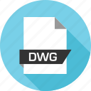 document, dwg, file, page icon