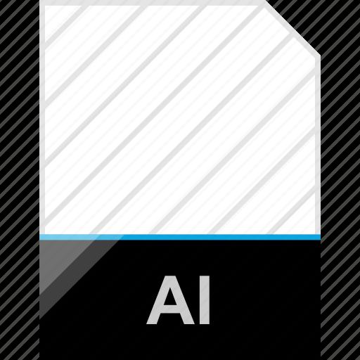 ai file, extension, page icon