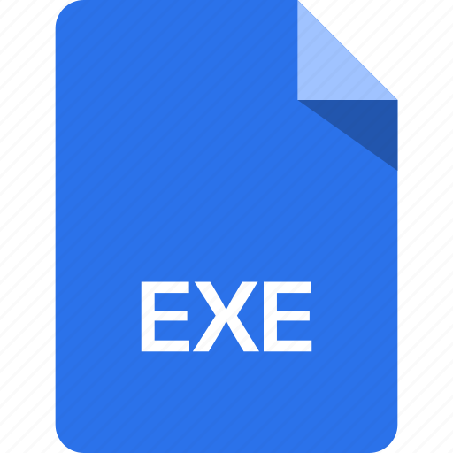 exe, extension, file, name icon