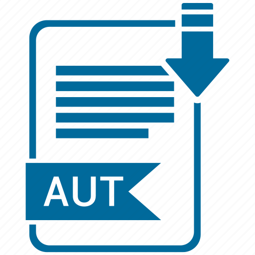 aut, extensiom, file, file format icon