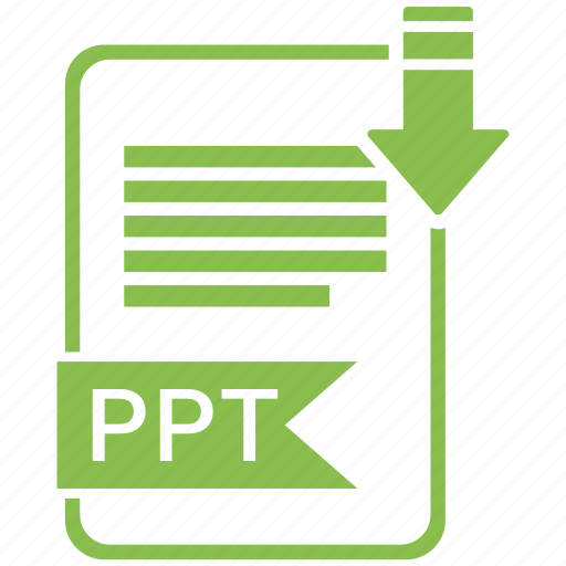 document, extension, folder, paper, ppt icon