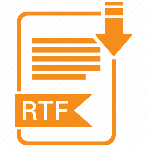 document, extension, folder, paper, rtf icon