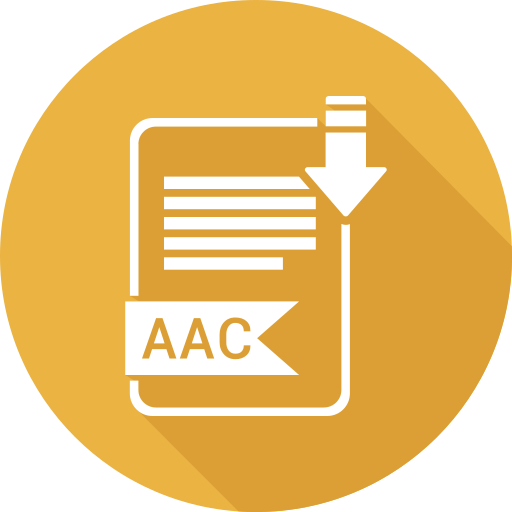 aac, extensiom, file, file format icon