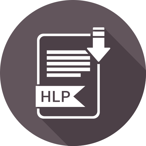 document, file, format, hlp, type icon