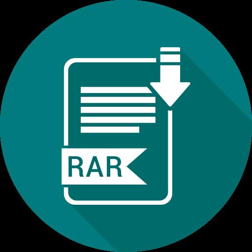 document, file, format, rar, type icon
