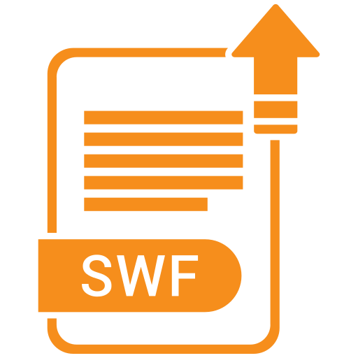 Document, extension, file, folder, format, paper, swf icon - Free download