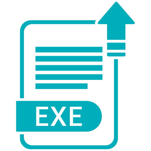 document, exe, extension, file, folder, format, paper icon