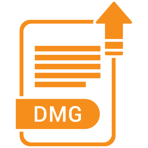 dmg, extension, file, format, paper icon