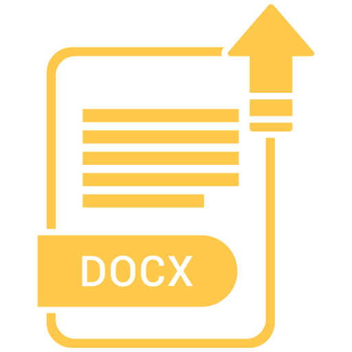 docx, extension, file, format, paper icon
